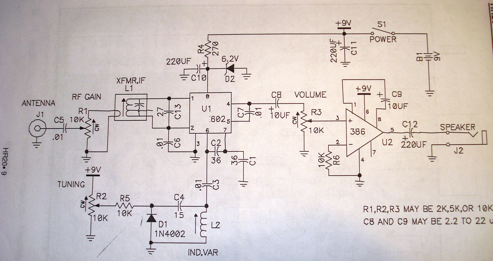 The Radio Builder Sw Receiver 2ic Sa602 Simple Fm Demodulator Circuit Diagram Electronic Diagrams Schematic There Are 4 Basic Sections In