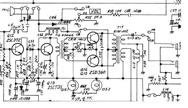 cb radio pa system wiring diagram hands-on electronics – signal tracing a simple transmitter ... pa system schematic diagram