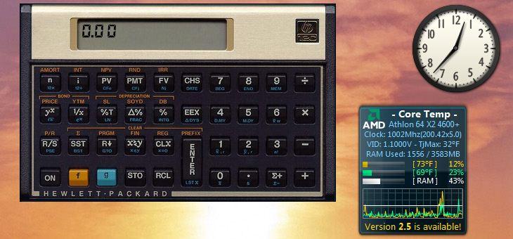 Scientific calculator gadget.