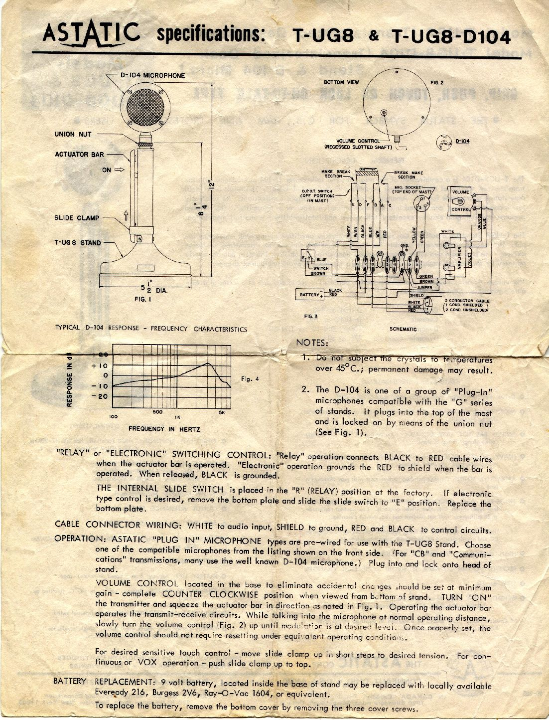 astatic_d104_manual_page2 a 1960's astatic d 104 mic in the 21'st century a real baby astatic mic wiring diagram at gsmportal.co
